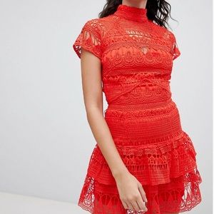 Red ASOS Design Holiday / Party Dress